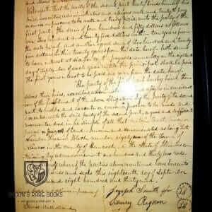 Nauvoo Land Deed Signed By Joseph Smith