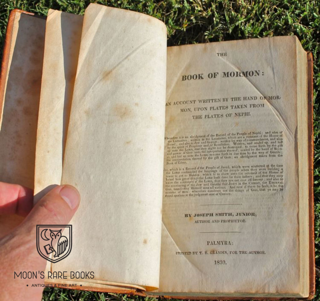 First Edition Book of Mormon History